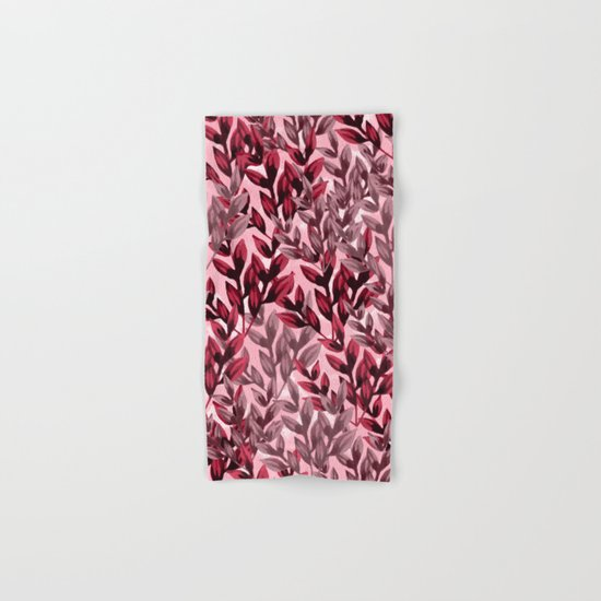 Leaf pattern  Hand & Bath Towel