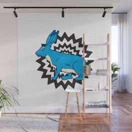 Bunny Blue Wall Mural