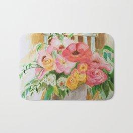 Flowers on a Chippy Chair Bath Mat