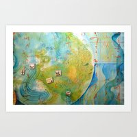 Worlds of Islandx Art Print