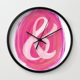 Thick Swirl Ampersand Warm Wall Clock