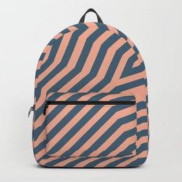 Symmetric diagonal stripes background 21 Backpack