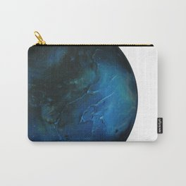 Blue Planet on White Background Carry-All Pouch