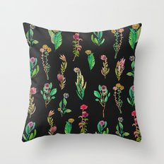 cute garden at nigth Throw Pillow