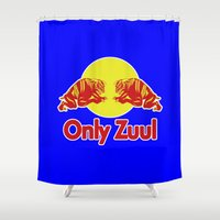 ghostbusters Shower Curtains featuring Only Zuul ghostbusters by Buby87