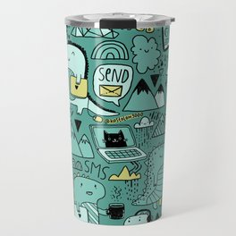 Communication Dinosaurs Travel Mug