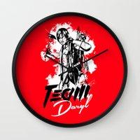 daryl Wall Clocks featuring TEAM DARYL by Dr.Söd