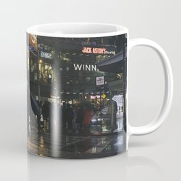 City Lights and Lonely Man in Toronto Street photography Coffee Mug