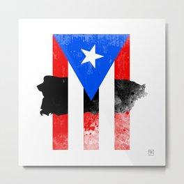 Puerto Rico + Flag Metal Print