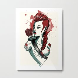 Amazon woman - 1 Metal Print