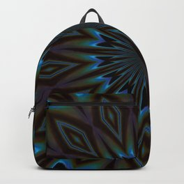 Blue and Brown Floral Abstract Backpack