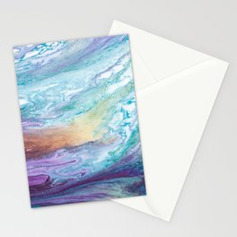 Purple and Blue Abstract Stationery Cards