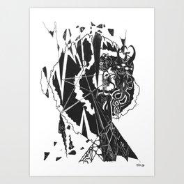 Diamond King Art Print