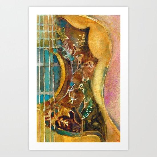 Gibson Hummingbird Acoustic Guitar Art Print