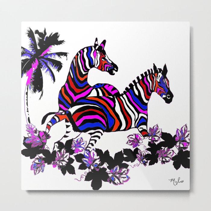 Zebra Rainbow #1 Metal Print