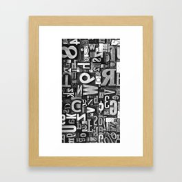 Metal Madness - Typography Photography™ Framed Art Print
