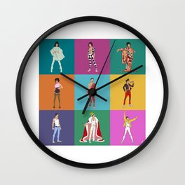 Bohemian Grid (square) Wall Clock