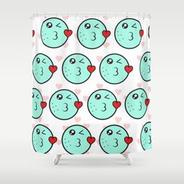 Love emoji Shower Curtain