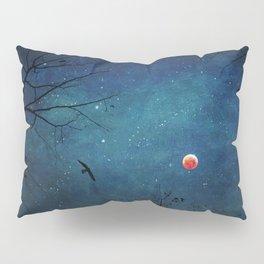 Blood Moon Through Trees Pillow Sham