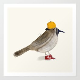 little brown creeper Art Print