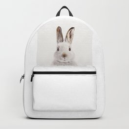 White Bunny, Baby Animals Art Print By Synplus Backpack