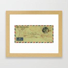 Air mail Framed Art Print