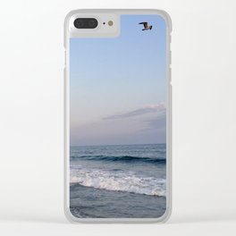 Sunset at Main Beach with Bird Clear iPhone Case