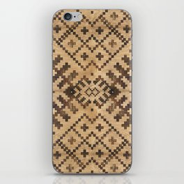 Geometric Wooden texture pattern iPhone Skin