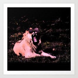 Cool Lion Chillin Art Print