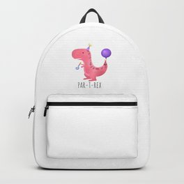 Par-T-Rex - Pink Dinosaur Birthday Backpack