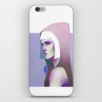 grimes iPhone & iPod Skins featuring Grimes by Amy Bauld