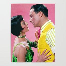 Gene Kelly & Cyd Charisse - Pink - Singin' in the Rain Poster
