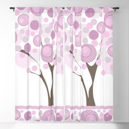 Abstract tree Blackout Curtain