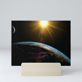 earth sun and moon Mini Art Print