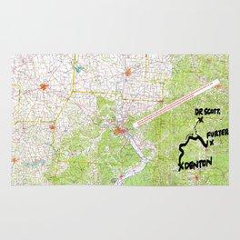 Map of Denton, USA Rug