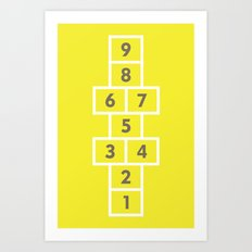 Hopscotch Yellow Art Print