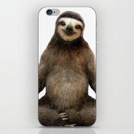 Sloth Yoga Art Print iPhone Skin