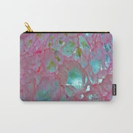 Pink Agate Formation Carry-All Pouch