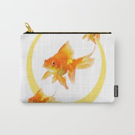 3 GOLDFISH SWIMMING PATTERN MODERN ART Carry-All Pouch