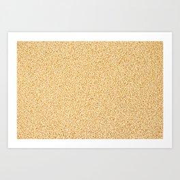 Couscous grains Art Print