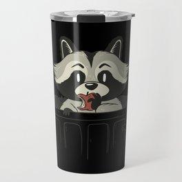 Trash Panda Raccoon eating Garbage Gift Travel Mug