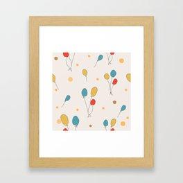 Colorful Balloons Framed Art Print