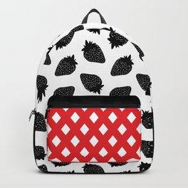 Black Strawberries Backpack