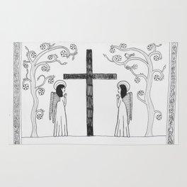 Angels praying Rug