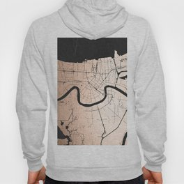 New Orleans Rose Gold and Black Map Hoody