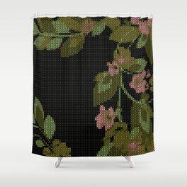 Mid Century Floral Gobelin Art Shower Curtain