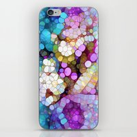 aqua iPhone & iPod Skins featuring Happy Colors by Joke Vermeer