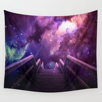 bridge Wall Tapestries featuring Into the bridge by Seamless
