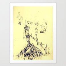 moving around Art Print