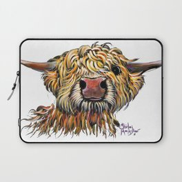 Scottish Highland Cow ' POPEYE 2 ' by Shirley MacArthur Laptop Sleeve